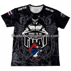 "Born to be Muay Thai Black T-Shirt ""Chains"""