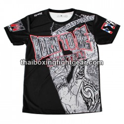 "Born to be Muay Thai Black T-Shirt ""Greetings"""