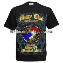 "Born to be Muay Thai Black T-Shirt ""Spirit of Fight"""