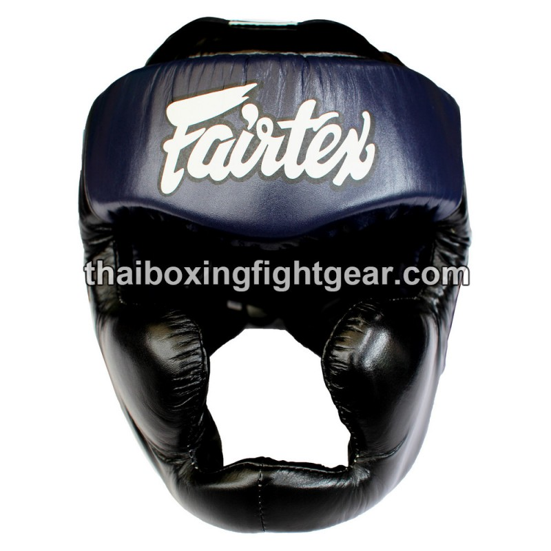 FAIRTEX HG13 BLACK DIAGONAL HEAD GUARD-FULL HEAD COVER MUAY THAI BOXING