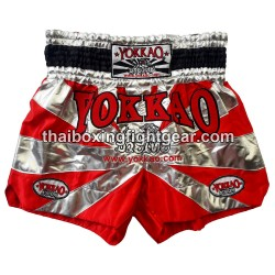 yokkao saenchai muay thai gym boxing short red