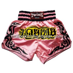 twins special muay thai boxing short pink