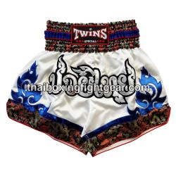 twins special Muay Thai-boxing-short/White
