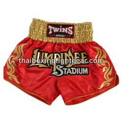 twins-special muay thai boxing-short /red gold