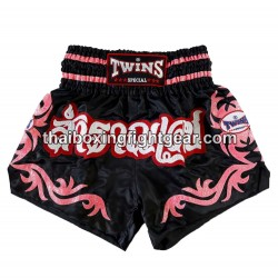 Twins muay thai boxing short black/pink