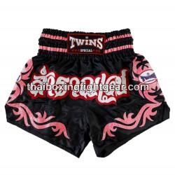 Twins muay thai boxing short black/pink