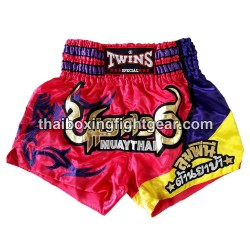 Twins muay thai boxing short pink/purple