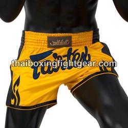 Fairtex slim cut Muay Thai shorts yellow