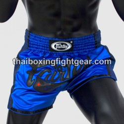 Fairtex short-Muay Thai boxing gear-slim cut,blue