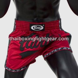 Fairtex NEW boxing shorts slim cut red-black