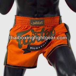 fairtex slim cut boxing muay thai shorts BS1705 orange