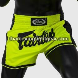 boxing shorts thai muay thai-Fairtex Slim Cut BS1706 green