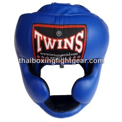 Twins HGL3 boxing Sparring Head Guard Blue Leather