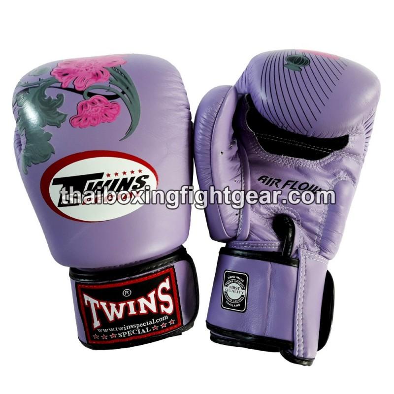 Shiv Naresh Teens Boxing Gloves 12oz: Twins Muay Thai Boxing Gloves FBGV-13 Flower FANCY Thai