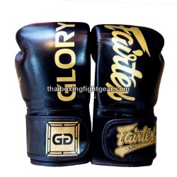 FREE P/&P Fairtex Glory Boxing Gloves Boxing Black Muay Thai MMA