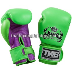 Top King Muay Thai Boxing Gloves TKBGDL Double Lock Neon Green