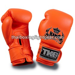 Top King Muay Thai boxing gloves TKBGDL double lock Neon orange