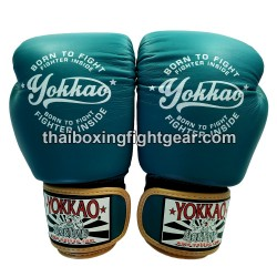 "Yokkao Muay Thai Boxing Gloves FYGL-25-3 ""VINTAGE"" Blue"
