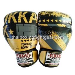 Yokkao Muay Thai Boxing Gloves FYGL-40-43 Hustle Gold/Black