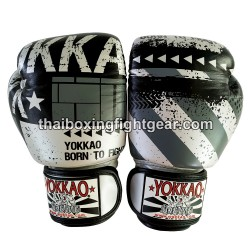 Yokkao Muay Thai Boxing Gloves FYGL-40-44 Hustle Silver/Black