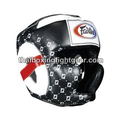 Fairtex HG-10 Muay Thai/MMA Super Sparring Head Guard  lace up Leather Black