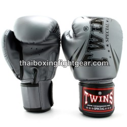 """Twins Special Fancy FBGVS3 Boxing Gloves """"Beginner Edition"""" Grey PU"""