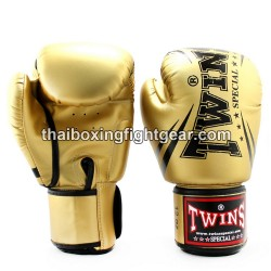 "Twins Special Fancy FBGVS3 Boxing Gloves ""Beginner Edition"" Gold PU"