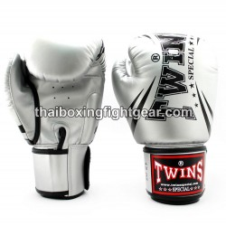 "Twins Special Fancy FBGVS3 Boxing Gloves ""Beginner Edition"" Silver PU"
