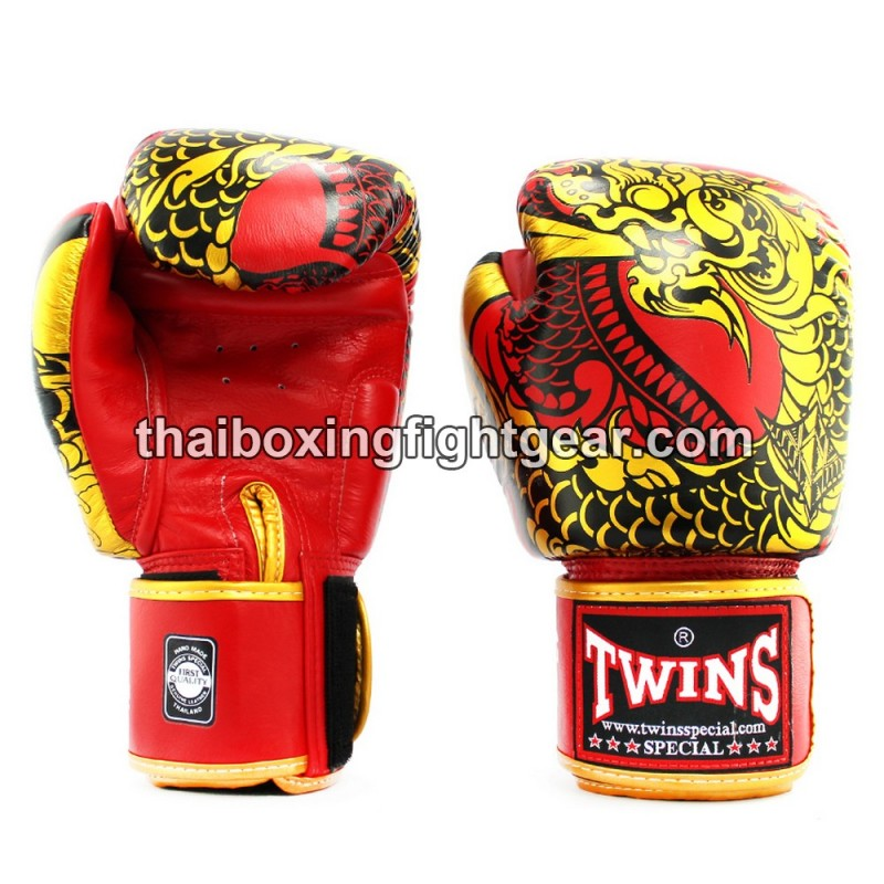 Twins New Boxing Gloves Fancy FBGVL3-52 Nagas Gold Red 8,10,12,14,16 oz  MMA K1