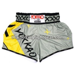 Yokkao-carbon-fit-X Thaiboxing shorts Grey