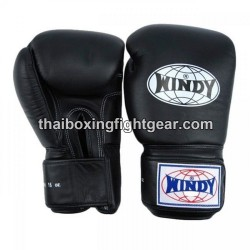 Gants de boxe thai Windy noir