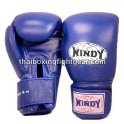 Gants de boxe Thai Windy bleu