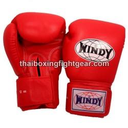 Gants de boxe thai Windy rouge