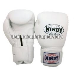 Gants de boxe Thai Windy blanc