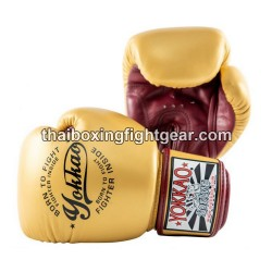 Yokkao Muay Thai Boxing Gloves Vintage Gold