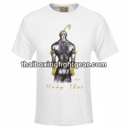 "Human Fight T-shirt ""BACK FIGHTER"" White"