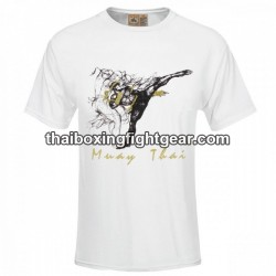 "Human Fight T-shirt ""HIGH KICK"" White"