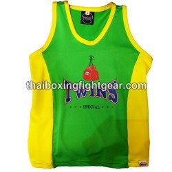 Twins Special TBS-2 Woman Singlet Sport & Boxing  Bra Green / Yellow