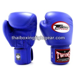 Muay Thai Boxing Gloves for Kids Twins BGVL-3 leather blue
