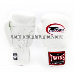 Muay Thai Boxing Gloves for Kids Twins BGVL-3 leather White