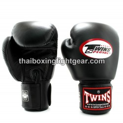 Muay Thai Boxing Gloves for Kids Twins BGVL-3 leather Black