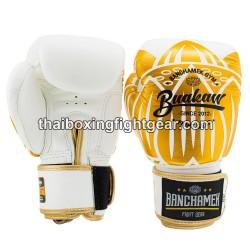 Buakaw Banchamek Muay Thai Boxing Gloves GL3 White