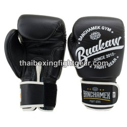 Buakaw Banchamek Muay Thai Boxing Gloves W1 Black