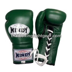 Windy Thaiboxing Gloves Green Lace Up
