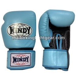 Windy Thaiboxing Gloves Velcro Blue Black