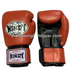 Windy Thaiboxing Gloves Velcro Orange Black