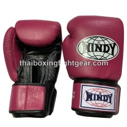 Windy Thaiboxing Gloves Velcro Pink Black