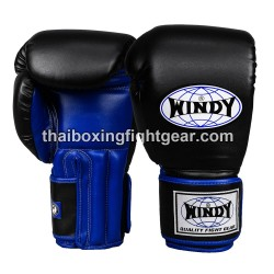 Windy Thaiboxing Gloves Pro Line Black Blue