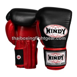 Windy Thaiboxing Gloves Pro Line Black Red