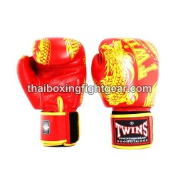 "Twins Boxing Gloves Thaiboxing FBGVL3-49 ""Dragon"" Red"